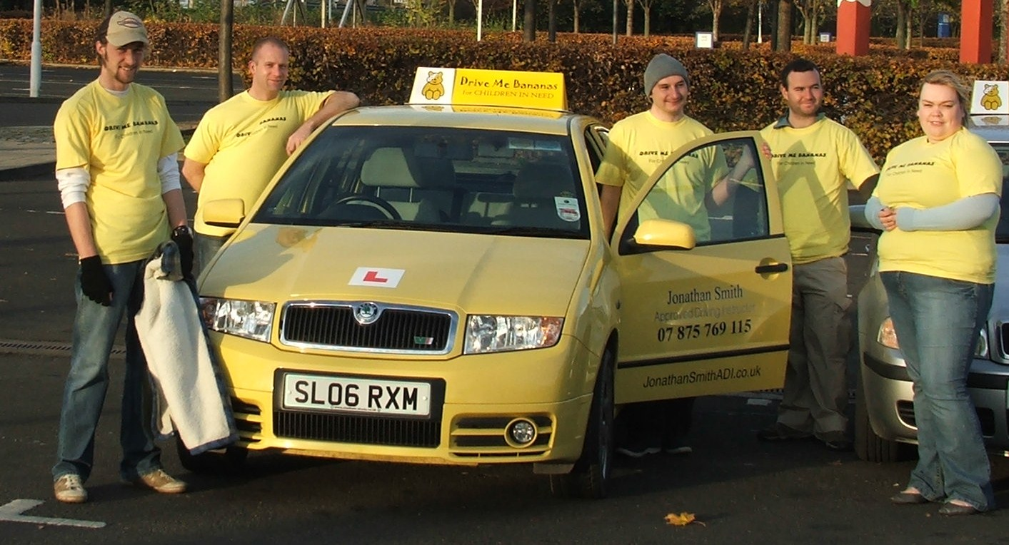 children in need driving lesson